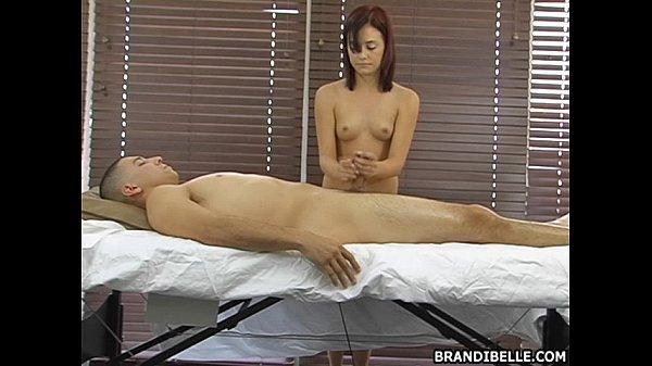 Brandi Belle Massaging Her Boyfriend And Makes Him Cum