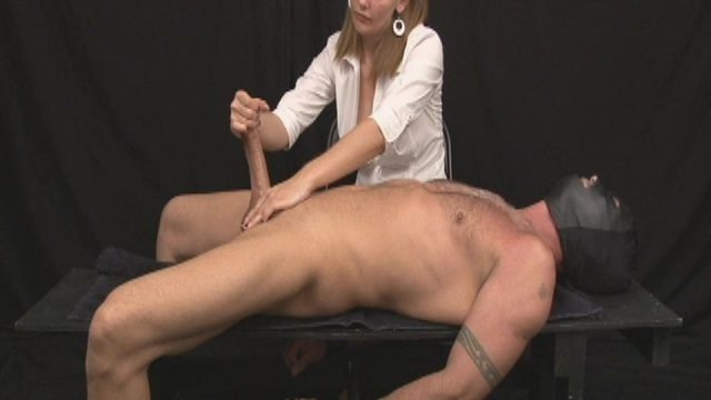 Young Blonde CFNM Teen With Masked BDSM Guy