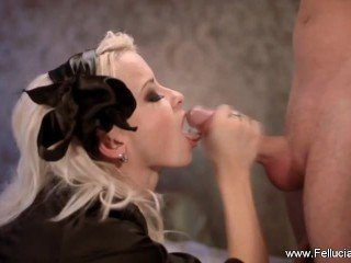 Blowjob Thrills From Amazing Blonde CFNM MILF