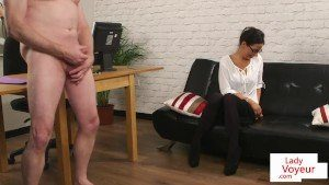 British CFNM Spex Instructs And Watches Lady Voyeurs Jerking