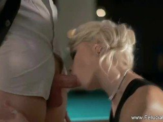 CFNM Teens Blowjob Huge Cock with Cum in Mouth