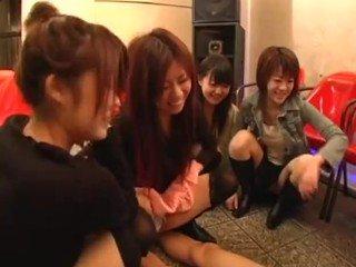 Three Japanese CFNM Girls Watch Asian Guy Jerk Off