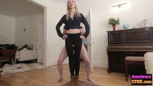 Brutal CFNM Femdom Babe Humiliates Small Dick