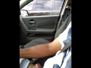 He Jerk Off And Flashes While CFNM Wife Drive Car