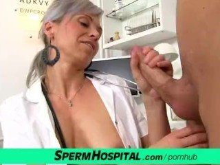CFNM Cock Medical Exam With Sexy MILF Doctor