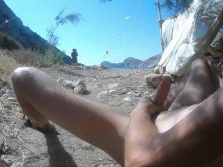Public CFNM Dick Flash On The Beach