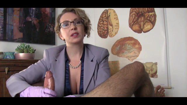 Doctor Gives Chronic Masturbator CFNM Handjob Until He Ejaculates