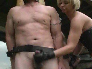 CFNM Femdom Outdoor Handjob From Mistress Angela