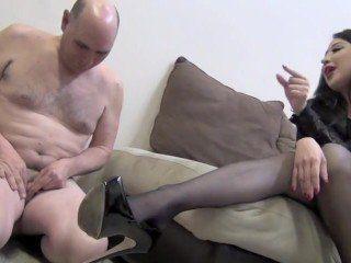 Black Hair Mistress Dominate Over Kinky Guy