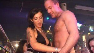 Many CFNM Babes Sucked Stripper's Great Cock