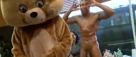 Strippers Receive Blowjobs By Office CFNM Horny Ladies