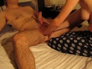 Intense Ball Squeezing Massage Leads To Huge Unload