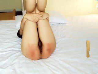 CFNM Chinese Girl Spanked With The Ruler