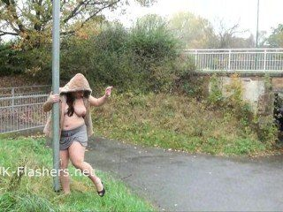 Crazy Amateur Flashers Public Masturbation And Solo Exhibitionist Chubby MILF
