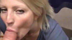 Exhibitionist CFNM Slut Kirsten Sucks And Swallows In Mall
