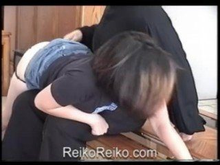 CFNM Asian Slut Gets Spanked Rough