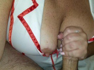 CFNM Huge-Breasted Nurse Makes Him Cum With A Great Tugjob