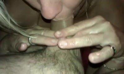 Blonde MILF Wanks My Cock