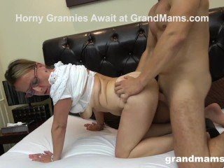 Twink's First Time with Gorgeous CFNM Grandma