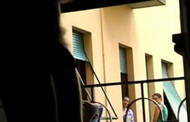 Window Dickflash For Two CFNM Neighbor Girls